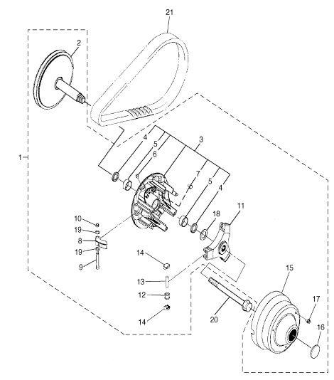 Yamaha J55 Golf Cart Clutch Diagram