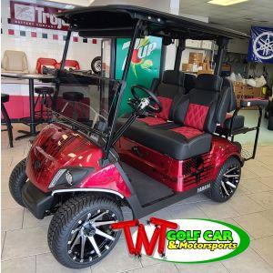 Red 2021 Punishment Yamaha Drive2 Gas Golf Car