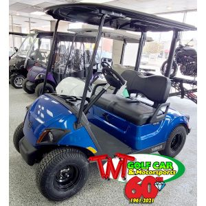 New Aqua Blue 2021 Yamaha Drive² QuieTech PTV EFI Gas Golf Car with IRS