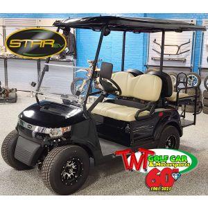 New street legal 2021 Jet Black Street Legal Star EV Capella 48 2+2 LSV Golf Car