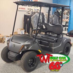 New Matte Black 2021 Yamaha Drive² QuieTech PTV EFI Gas Golf Car with IRS