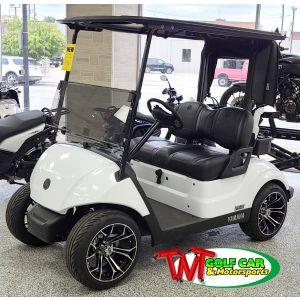 Upgraded 2022 Glacier White Yamaha Drive² Gas Fleet EFI Golf Car