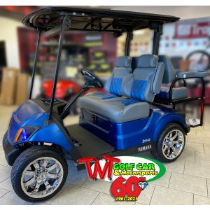 Completely Custom 2021 Arctic Drift Yamaha Drive2 Fleet EFI Golf Car