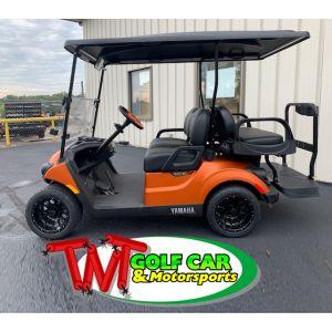 New Custom 2021 Matte Orange Yamaha Drive² PowerTech AC IRS PTV 48 volt electric golf car