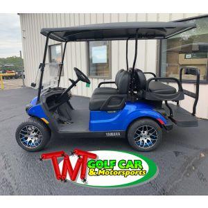 New Custom 2021 Aqua Blue Yamaha Drive² PowerTech AC IRS PTV 48 volt electric golf car