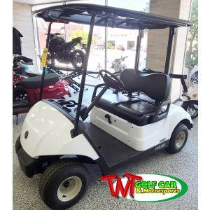 2022 Glacier White Gas Yamaha Drive² Fleet EFI Golf Car
