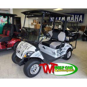 White 2021 Punishment Yamaha Drive2 Gas Golf Car