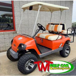 Used 2002 Orange Crush Yamaha Golf Car