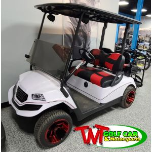 2015 Havoc Custom Yamaha Golf Car White and Red