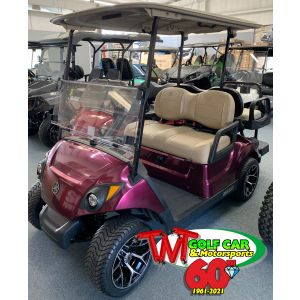 2018 Plum Color Yamaha Drive2 Street Legal Gas Golf Car