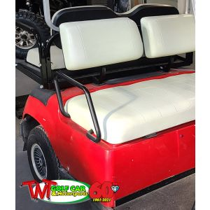 2002 Red Yamaha Golf Car with White Seats