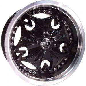 12x6 Mogul-Machined W/Black