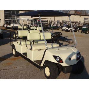 USED 2004 Yamaha Gas Six Passenger Golf Car-White