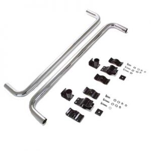Nerf Bar Kit-Chrome-EZGO