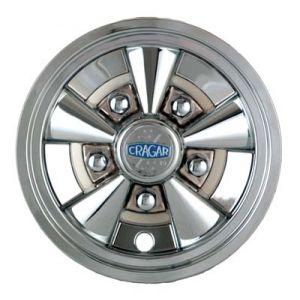 "8"" Cragar SS 5-Spoke Wheel Cover-Chrome"
