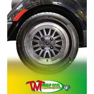 """Driver Side 12"""" 16-Spoke V-Series PTV Radial Alloy Wheel Assembly for Yamaha Golf Car"""