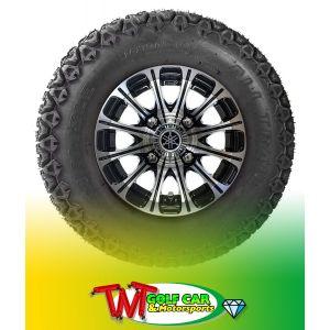 "All-Terrain 10"" 12-Spoke J-Series Alloy Wheel for Yamaha Drive/Drive2 Golf Car"