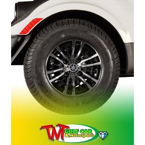 """10"""" Casino Wheel with Kenda Loadstar 205/65-10 Tire for Yamaha Drive Golf Car"""