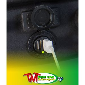 Waterproof USB Dual Charge Port for Golf Cart