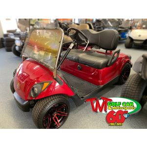2016 AC Lowered Cherry Red Yamaha Drive2 Golf Car