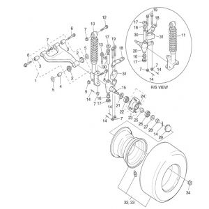 2005-2008 G27A: U-Max Light Duty Gas - Front Suspension - Wheel
