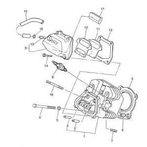 2009-2016 YT1 Adventurer One Gas - Cylinder Head