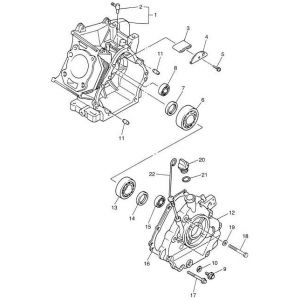 2009-2016 YT1 Adventurer One Gas - Crankcase
