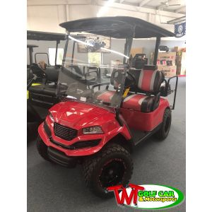 Street Legal 2014 Custom Red Havoc Yamaha Golf Car