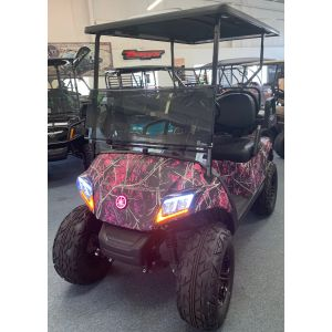 2017 Yamaha Drive 2 Gas Car with Pink Camo Muddy Girl