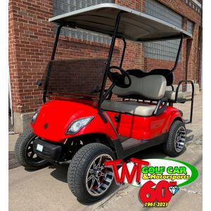SOLD- Custom Red Lifted 2013 Yamaha Drive DC Electric Golf Car