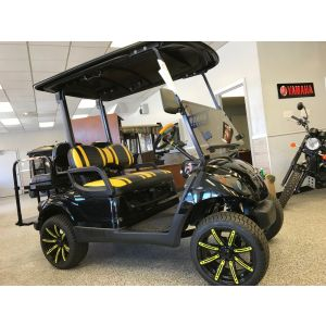 2012 Reconditioned Yamaha Gas Golf Car - Onyx/Yellow Lifted PTV