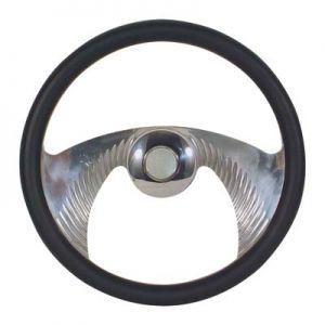Steering Wheel-Mustache Chromed-Regal Burl