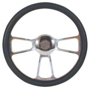 Steering Wheel-Billet Trike-Burl