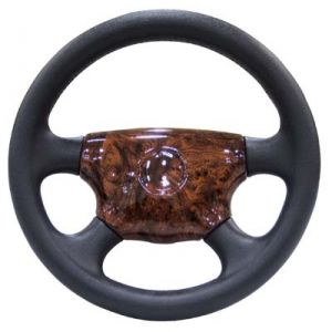 Steering Wheel Center Piece-Woodgrain-EZGO