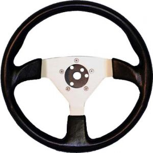 Formula 1 Steering Wheel-Black With Silver