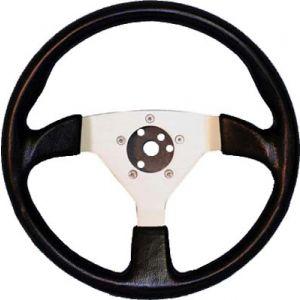 Formula 1 Steering Wheel-Black With Silver