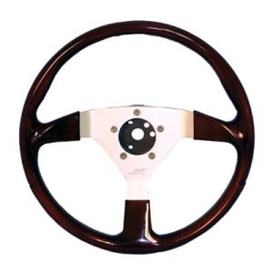 F/X Steering Wheel-Faux Wood With Silver
