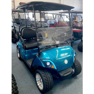 2020 Yamaha Drive 2 Custom Teal Fuel Injected Street Legal Gas Golf Car