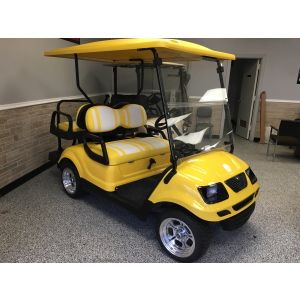 Reconditioned Yamaha Yellow Gas Golf Cart