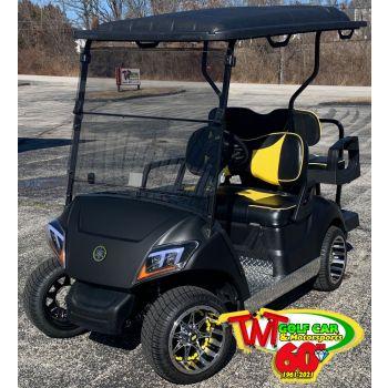 SOLD- One-of-a-Kind Black and Yellow 2021 Yamaha Drive2 Fleet EFI Gas Golf Car