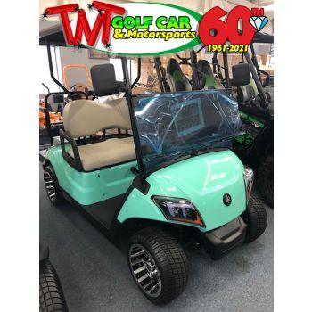 SOLD- Mint Green 2021 Yamaha Drive2 Fleet Gas Golf Car
