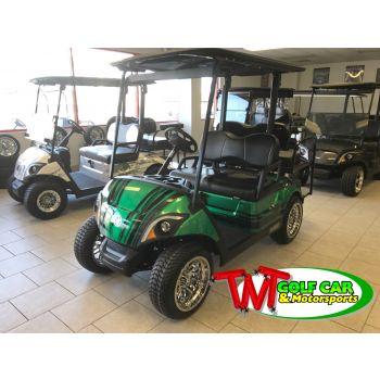SOLD- Full custom one-of-a kind Green 2021 Yamaha Drive2 EFI Golf Car J0K-203114