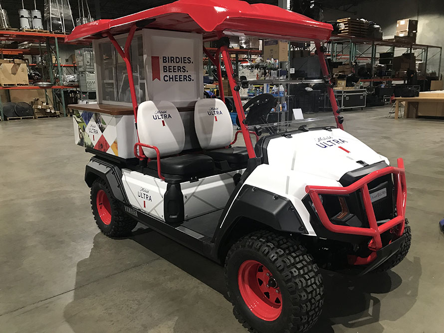 Birdies. Beers. Cheers. Mick Ultra Gear golf car by TNT Yamaha in Missouri and Illinois